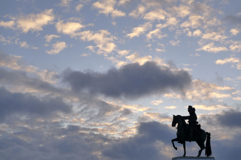 The Louis XIV on the horse sculpture in Versailles