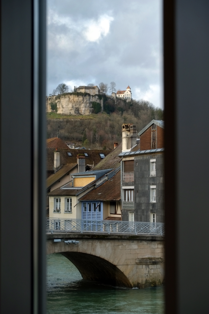 Wiew from the Courbet muséum in Ornans, France