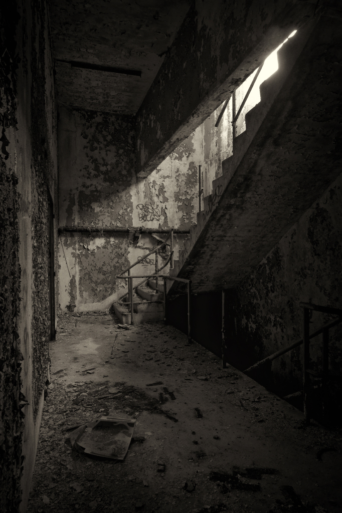 a walkin the old abandoned factory