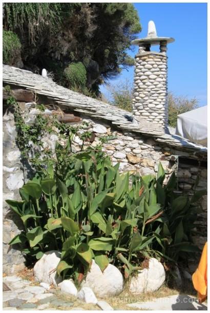 pebble chimney