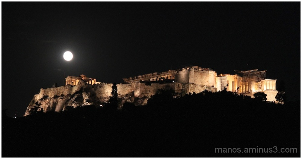 Acropolis and the full moon - II