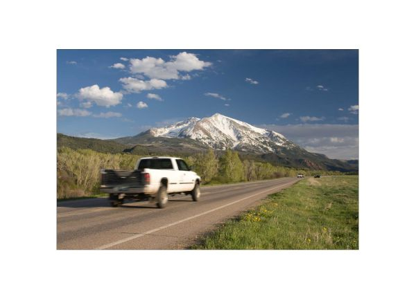 Mt Sopris & The Road to marble by BlindPoet