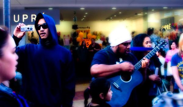 Ngapuhi flashmob Whangarei New Zealand  Blindpoet