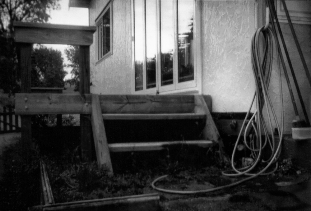 The Back Steps, The Hose and The Evening Sky