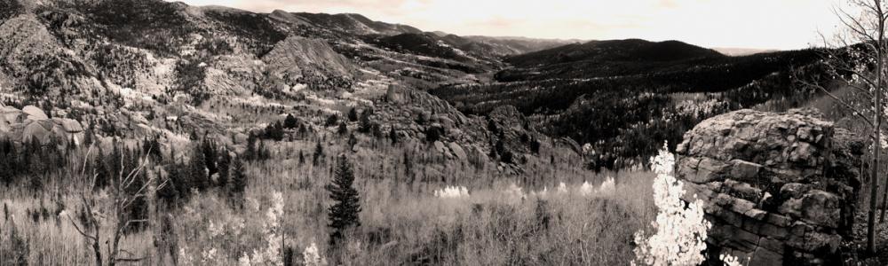 Panorama taken in Victor Colorado, teller County