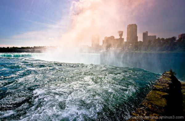 Niagara river, facing Canada, before it falls