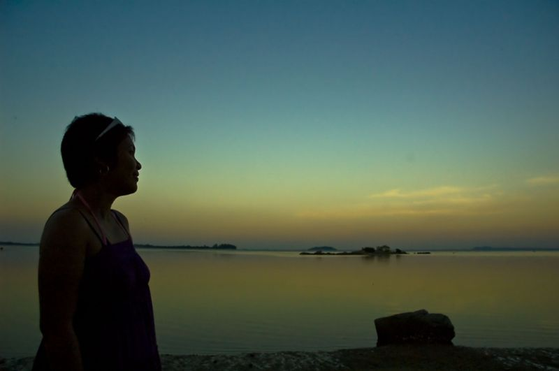 Ava and Sunset