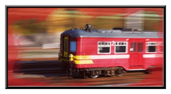 Le train rouge...
