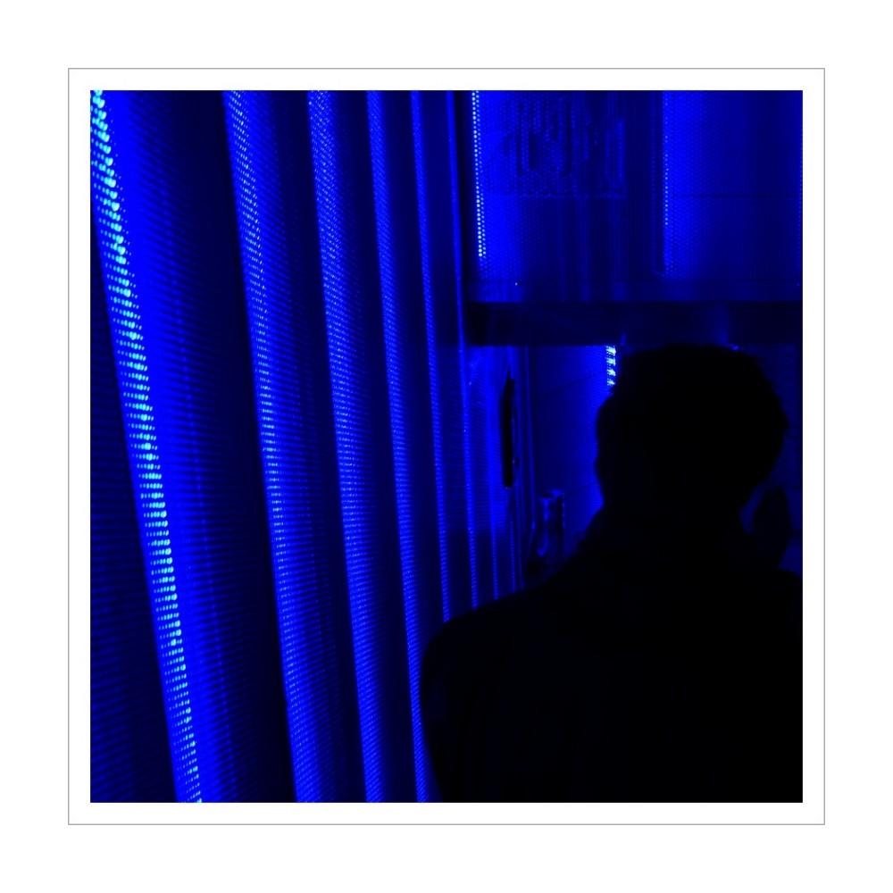 Man in blue...