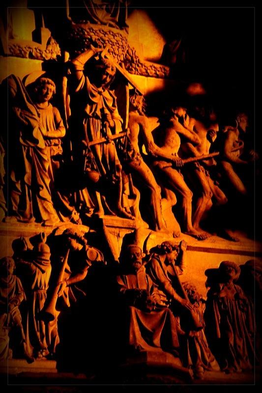 Détails de la cathédrale d'Anvers