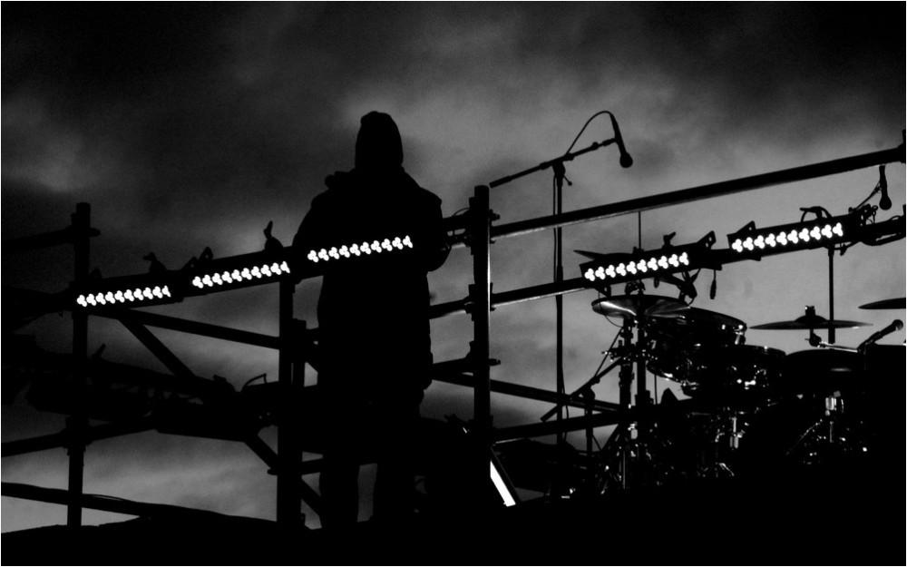 In the dark...
