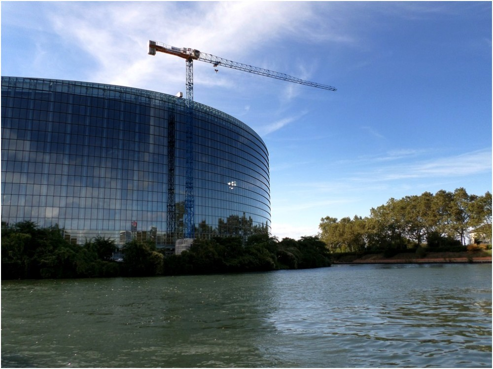 Strasbourg: Le parlement européen.