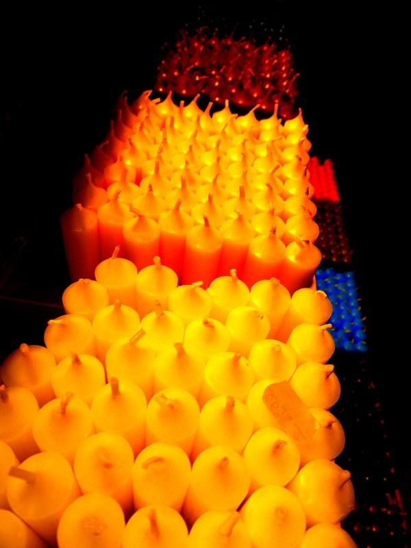 Les bougies...