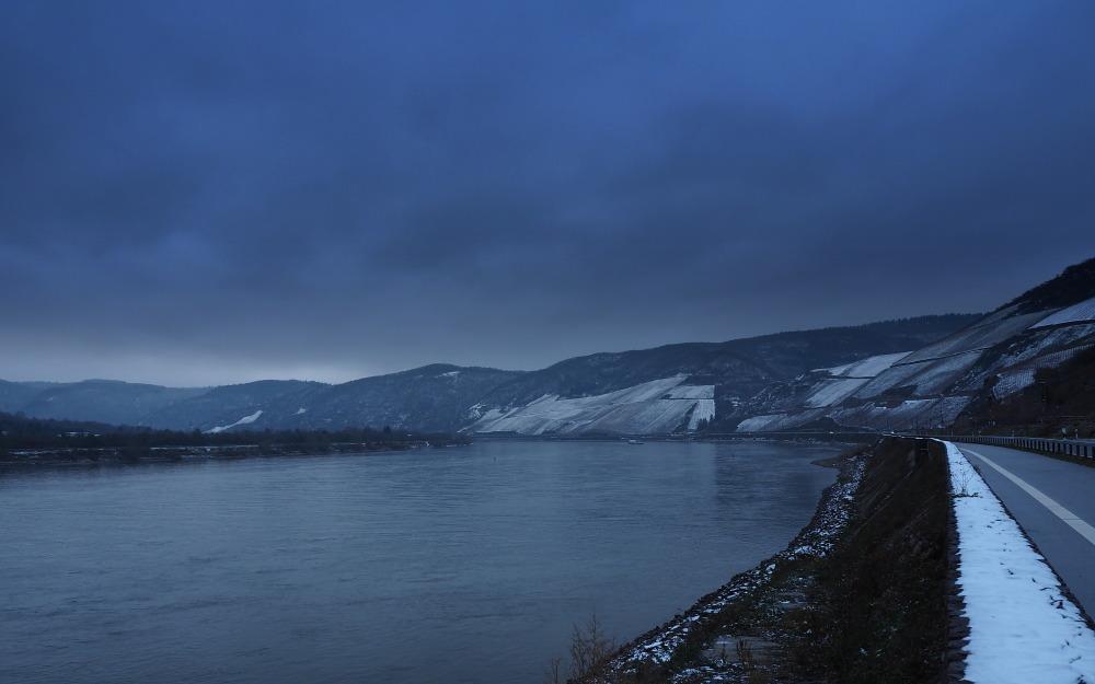 Le Rhin en hiver...