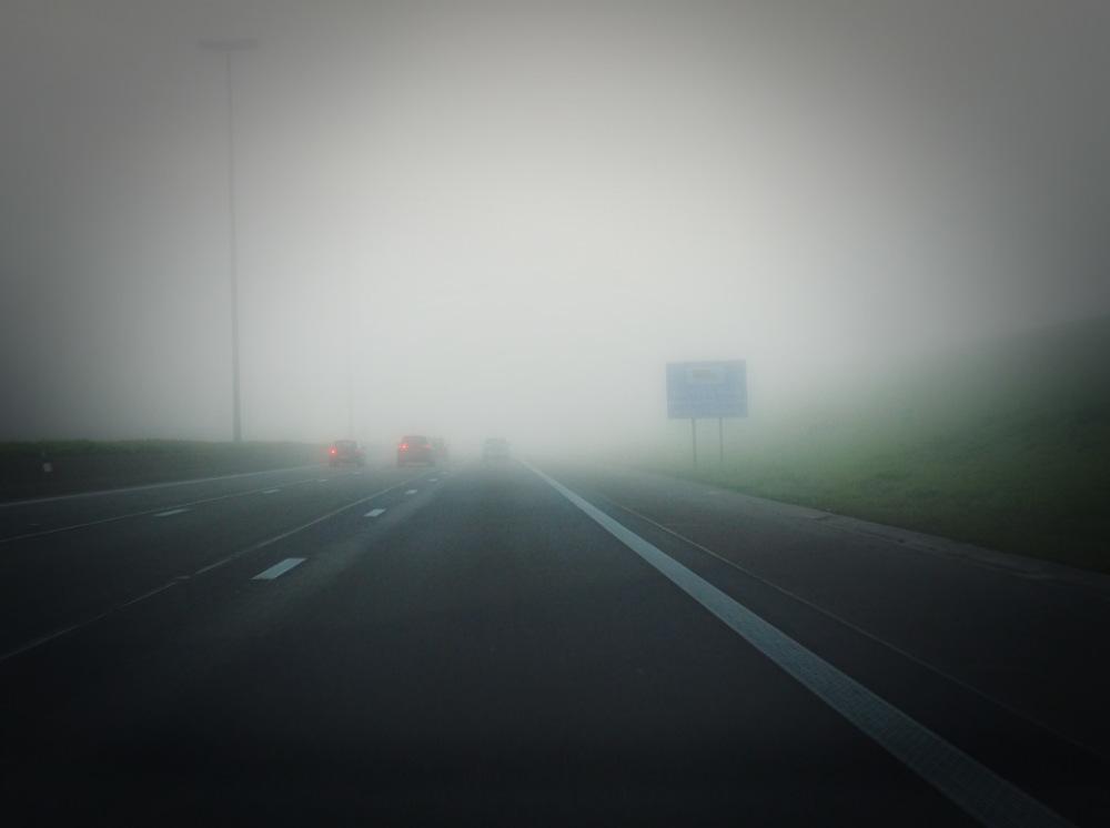 En plein brouillard...