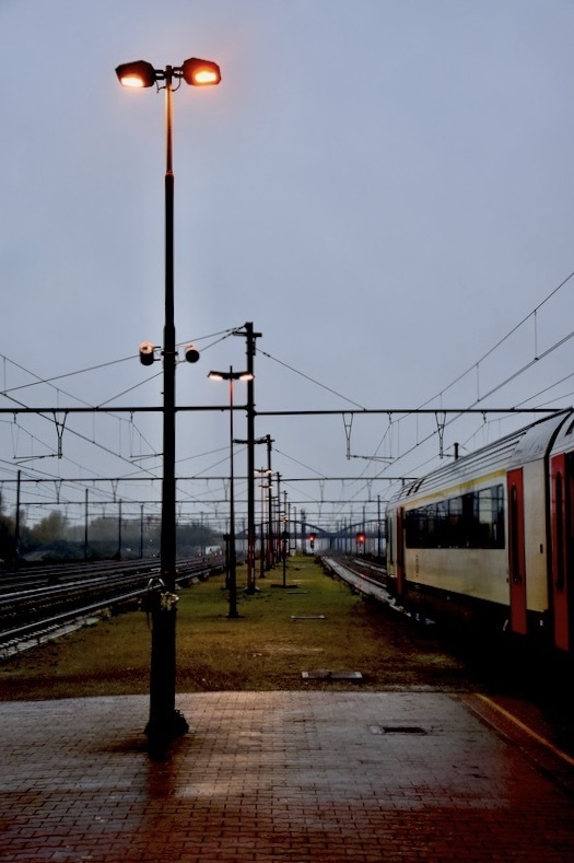 The last train...