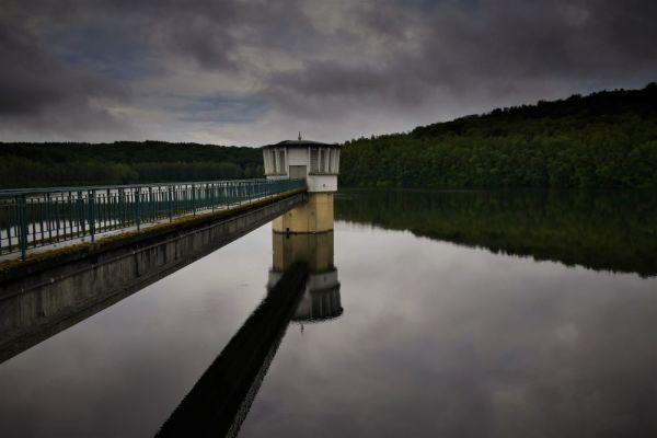 The lake...