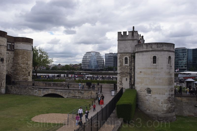 View of new City Hall from the Tower of London