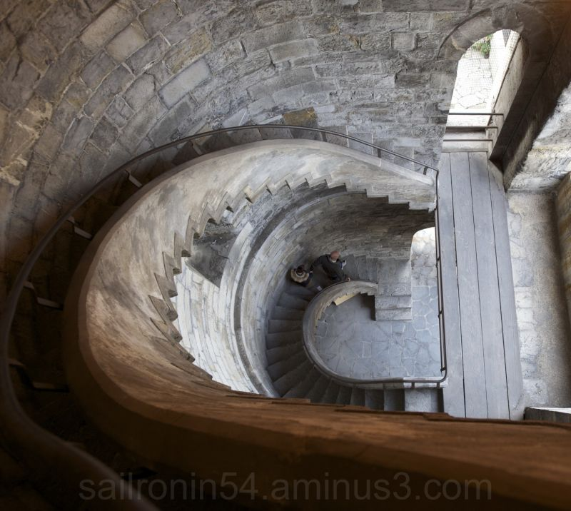 tower stairs looking down