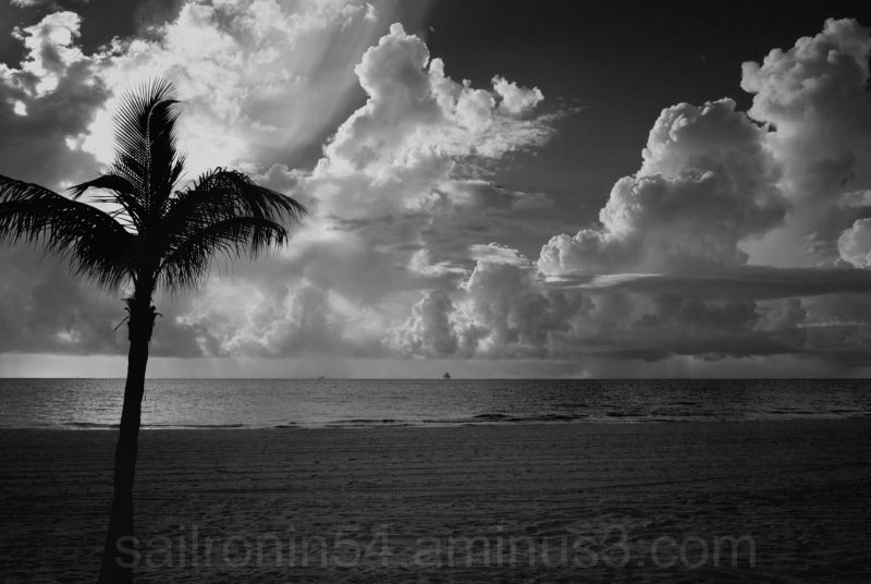 Sunrise from Fort Lauderdale beach after a storm