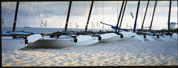 Hobie cats on Fort Lauderdale beach ready for use