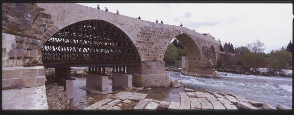 Roman bridge at Aspendos river, turkey