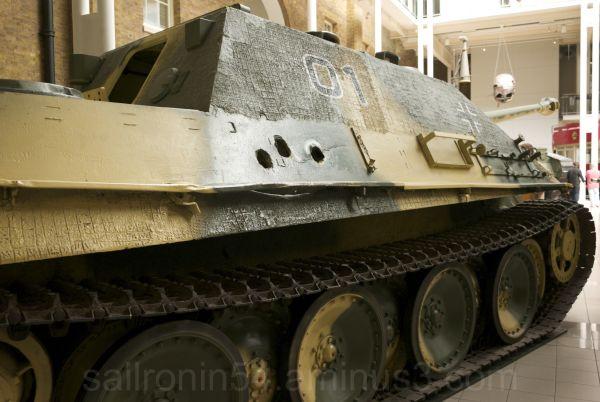 aft quarter view WW2 German Panzer tank London