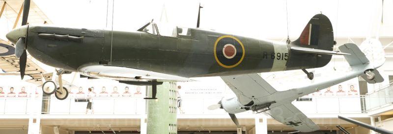 WW2 British Spitfire fighter airplane