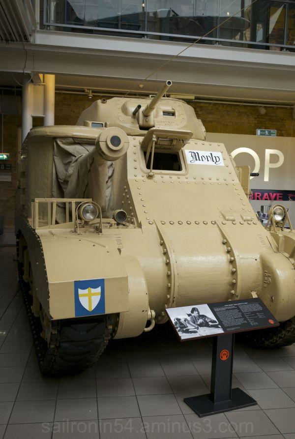 Field Marshall Montgomery's command tank from WW2