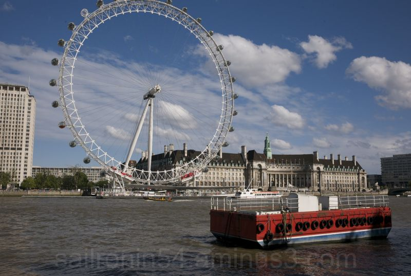 London Eye from across the Thames River