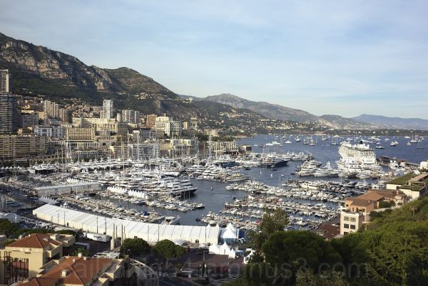 Monaco Yacht show from Palace