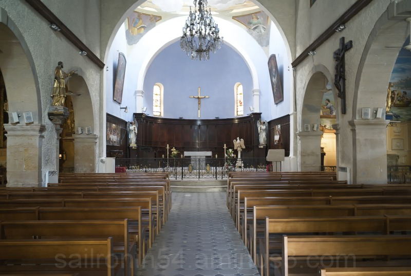Interior Catholic church Bandol France