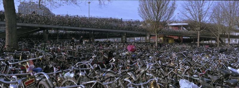 Bike parking lot at Central Station Amsterdam