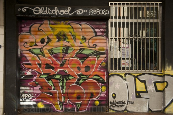 Oldschool graffiti in Papeete