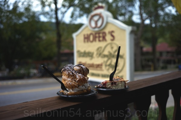 Wonderful cream puff and cheesecake at Hofner's