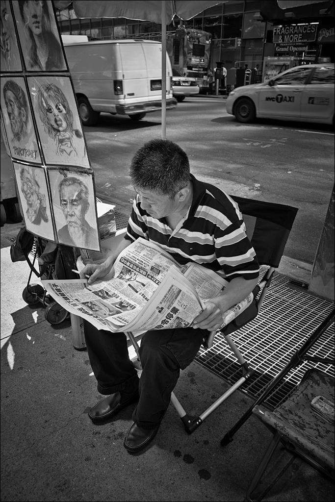 Times Square artist