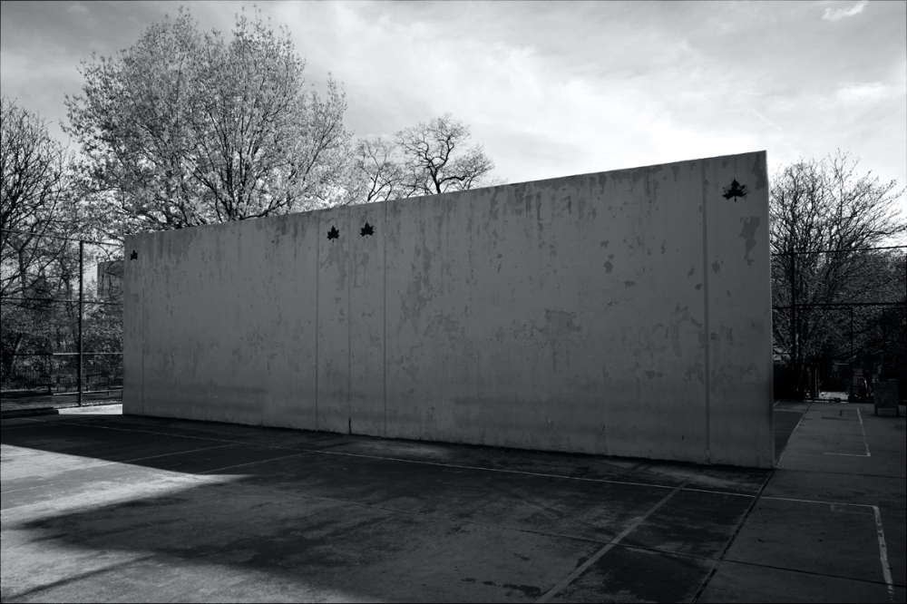 Handball court wall