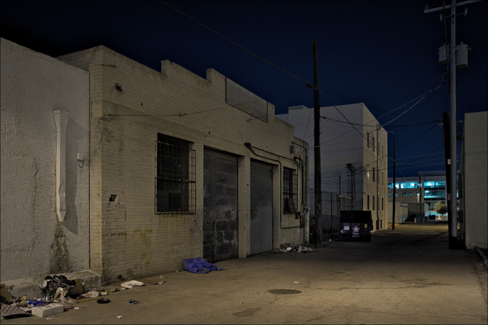 The alley behind the New Windsor Hotel