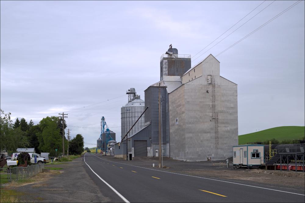 A grain elevator somewhere in S.E. Washington...