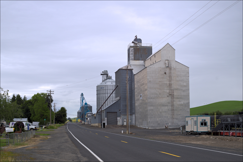 A grain elevator somewhere in S.E. Washington...