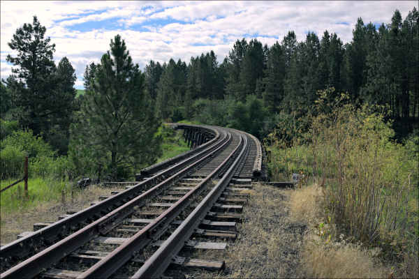 Railroad trestle...