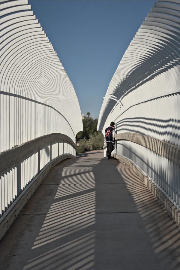 Kids on a bridge...