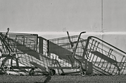 Shopping cart shadows...