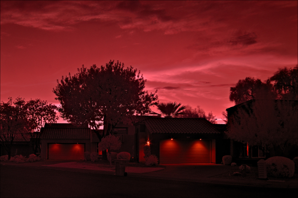 Infrared sunset...