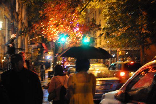 NYC Greenwich Village at night