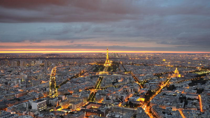 Paris Cityscape Eiffel Tower Tour Montparnasse