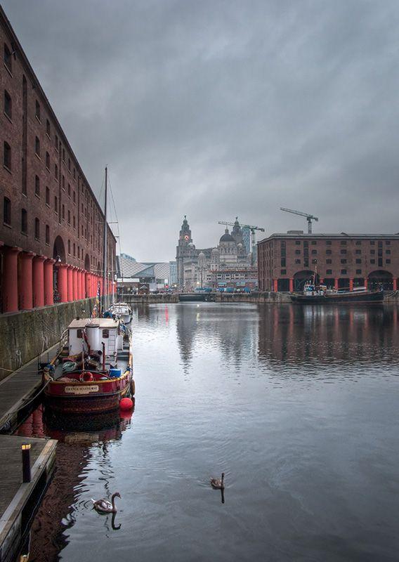 Albert Dock Liverpool Liver Building HDR