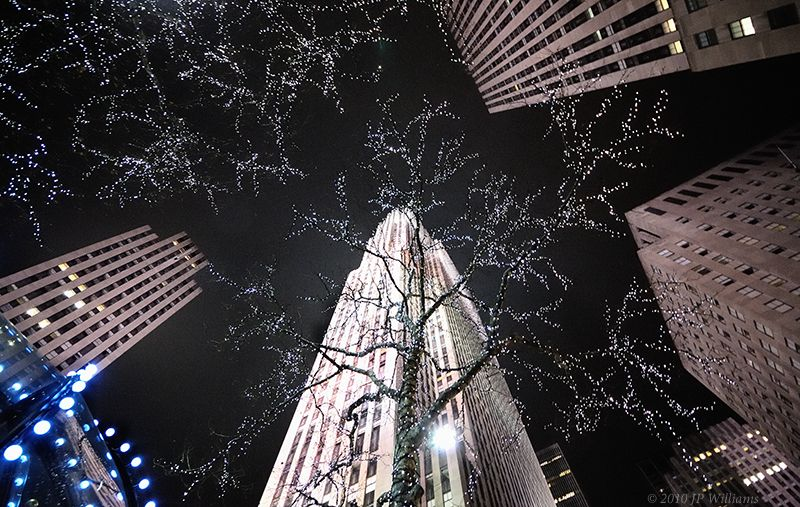 Rockefeller Center at night, NYC, February 2010
