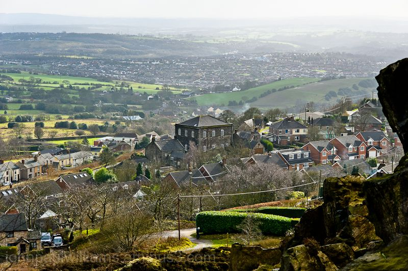 Mow Cop village, with Whitehill and Kidsgrove
