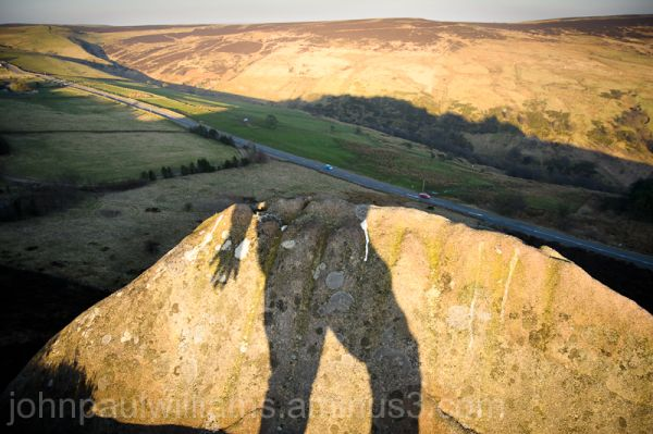 Standing on the edge of Ramshaw Rocks